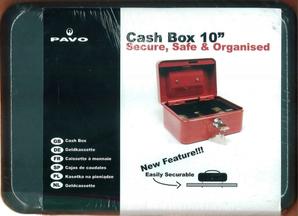 "Cash Box 10"" Black"