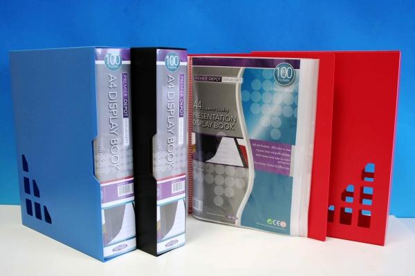 100 Pocket Display Book A4