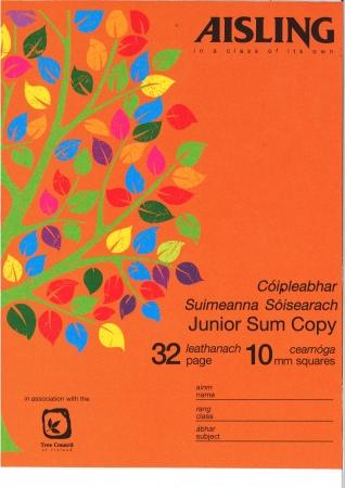 Sum Copy Junior 32 Page 10mm Squares