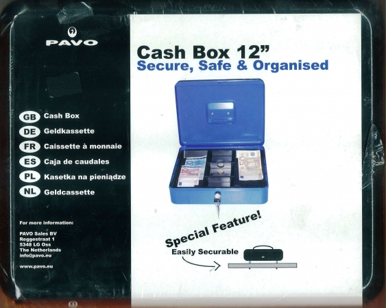 "Cash Box 12"" Black"