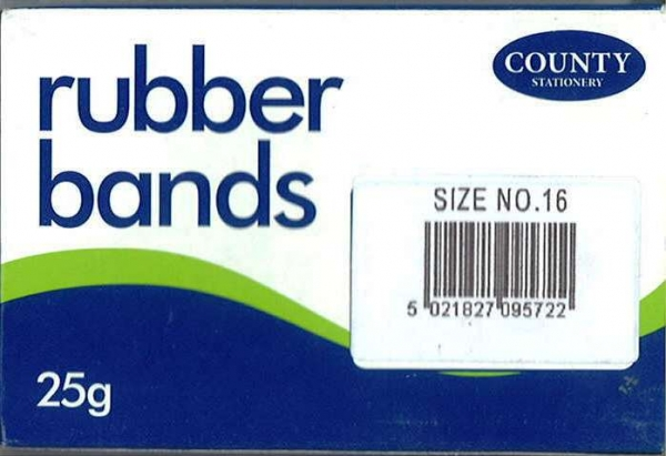 Rubber Bands Size 16 - 25g