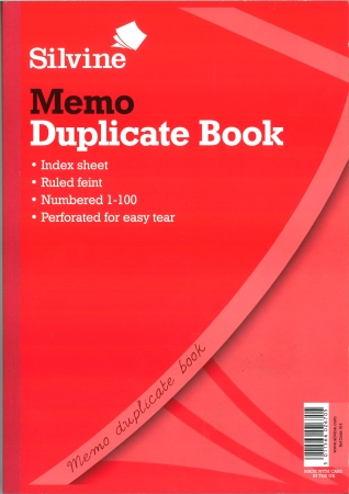 Duplicate Book A4 Memo - Carbon Paper