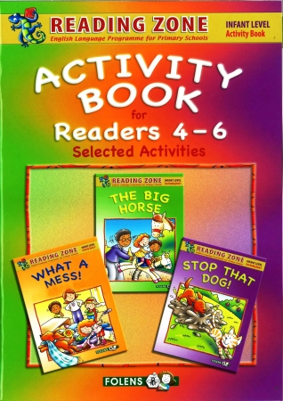 3-In-1 Activity Book For Core Readers 4-6 - Reading Zone - Senior Infants