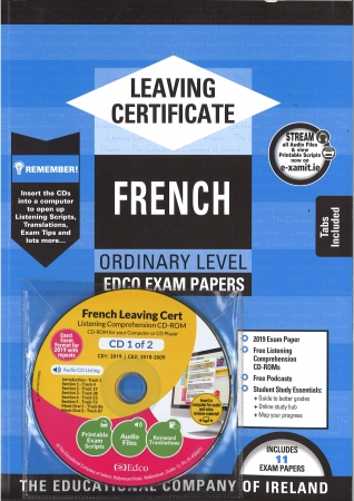 Leaving Cert French Ordinary Level - Includes 2019 Exam Papers