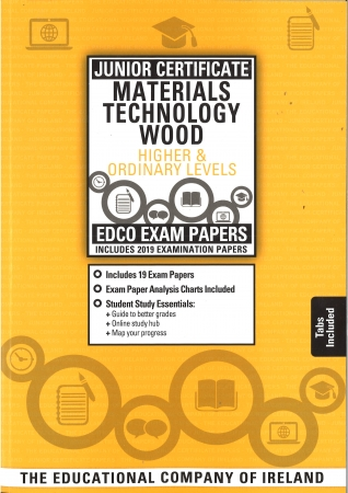 Junior Cert Materials Technology Wood Higher & Ordinary Level - Includes 2019 Exam Paper