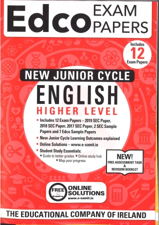 Junior Cert English Higher Level - Includes 2019 Exam Papers