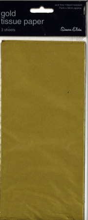 Tissue Paper 3 Sheets - Gold