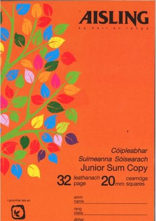 Sum Copy Junior 32 Page 20mm Squares