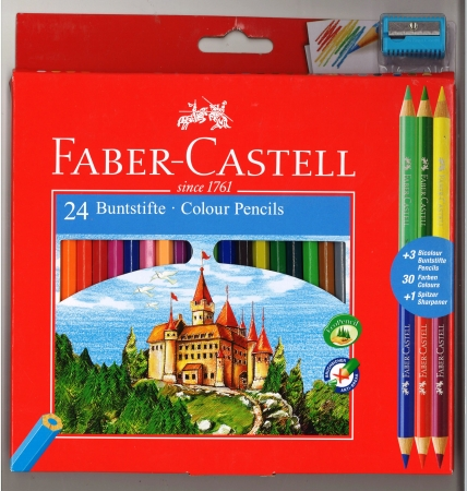 Faber-Castell Colouring Pencils 24 Pack