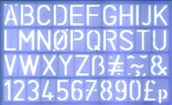 Stencil 30mm Capital Letters