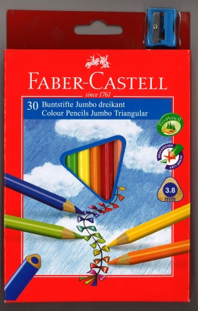 Faber-Castell Junior Grip Colouring Pencils 30 Pack