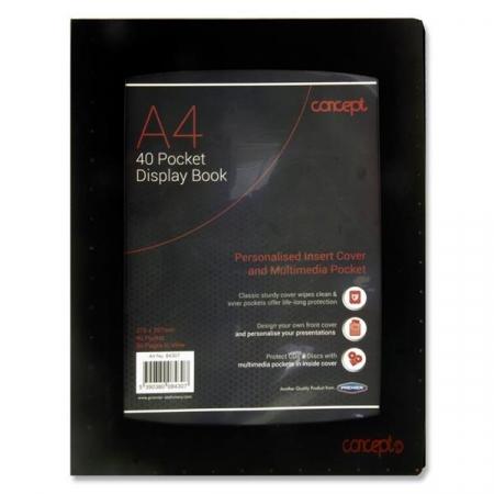 40 Pocket Display Book A4 - With Inside Pocket