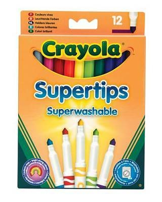 Crayola Supertip Washable Markers 12 Pack