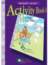 Animals In The Trolley - Activity Book 4 - Magic Emerald - Senior Infants