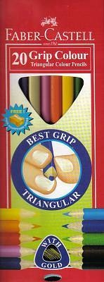 Faber-Castell Junior Grip Colouring Pencils 20 Pack
