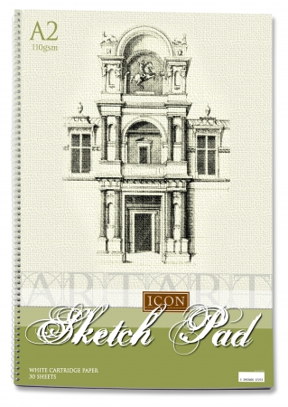 Sketch Pad A2 110gsm - 30 Sheets - Spiral