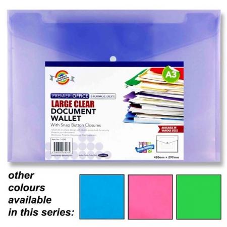 Buttom Wallet / Folder A3 - Assorted Colours