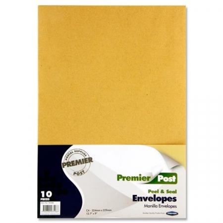 A4 Envelope Manilla 10 Pack 324mmx229mm