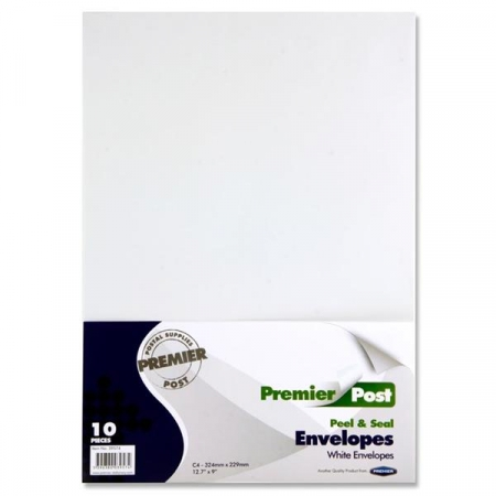 A4 Envelope White 10 Pack 324mmx229mm