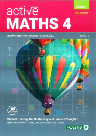 Active Maths 4 Book 1 2nd Edition Textbook - Strands 3, 4 & 5 - Leaving Certificate Higher Level Project Maths