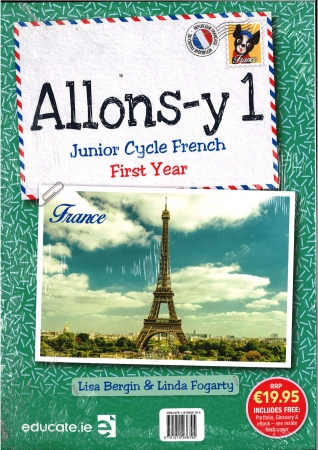 Allons-Y1 Junior Cycle French Pack Includes Textbook, Portfolio, Glossary, eBook & CD's