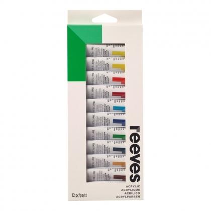 Acrylic paint set 12 tubes