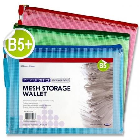 Mesh Wallet / Folder B5 - Assorted Colours