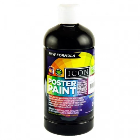 Poster Paint Black 500ml