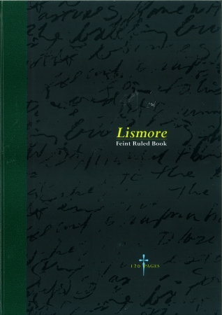 Hardback Copy A4 120 Page - Feint Ruled - Green & Black