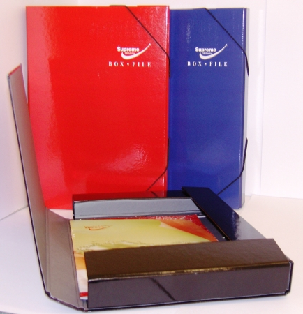 Box File 2 Inch With Elastic Assorted Colours
