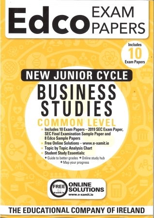 Junior Cert Business Studies Common Level - Includes 2019 Exam Papers