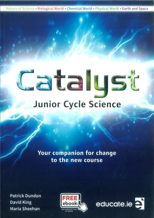 Catalyst Pack - Junior Cycle Science - Textbook, Portfolio Workbook & Key Words Booklet - Includes Free eBook