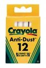 Crayola Chalk Anti-Dust 12 Pack White