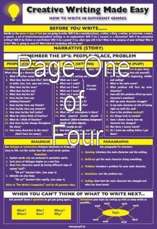 Creative Writing Made Easy! Glance Card