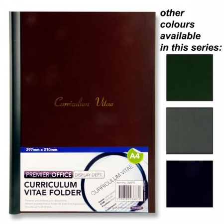Curriculum Vitae Folder A4 - Assorted Colours