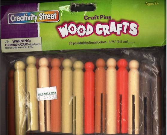 Dolly Pegs Coloured 30 pack