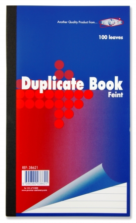 "Duplicate Book Feint 8""x5"" - Carbon Paper"