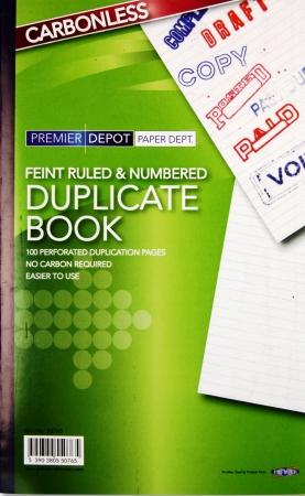 "Duplicate Book Feint 8""x5"" - Carbonless"