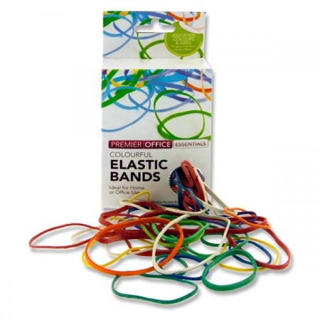 Rubber Bands Assorted Sizes Large Box - 100g