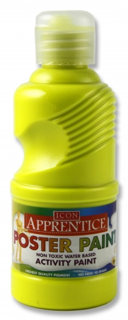 Poster Paint Flourescent Yellow 250ml