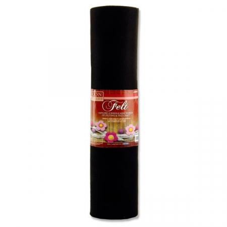Felt Roll 45cm X 5m - Black