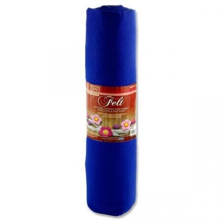Felt Roll 45cm X 5m - Blue