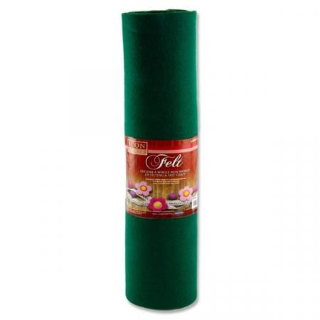 Felt Roll 45cm X 5m - Green