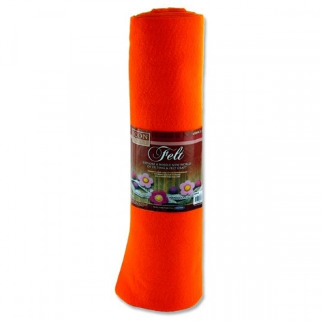Felt Roll 45cm X 5m - Orange