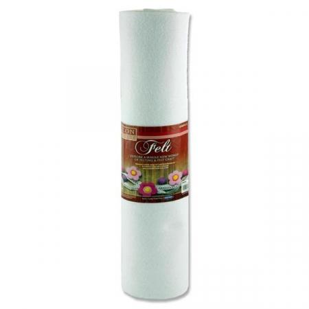 Felt Roll 45cm X 5m - White