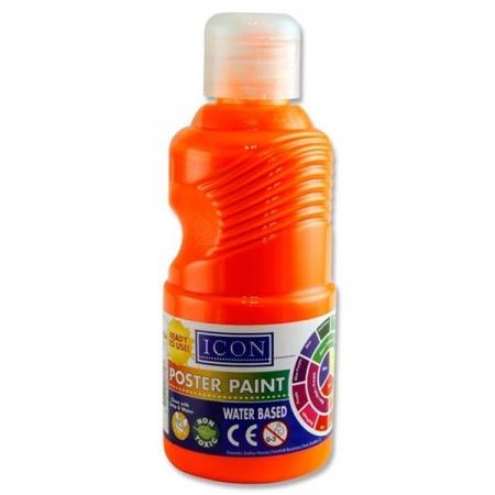 Poster Paint Flourescent Orange 250ml