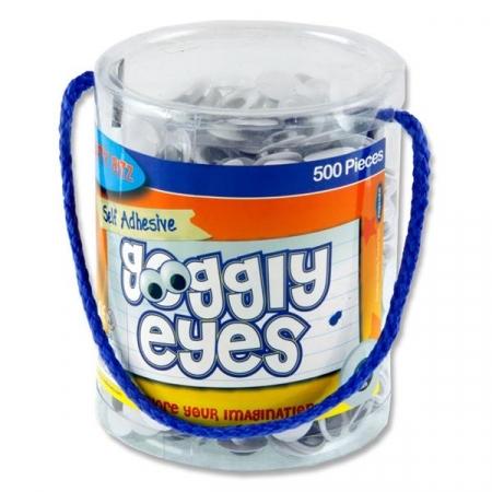 Wiggly Eyes 500 Tub 15mm