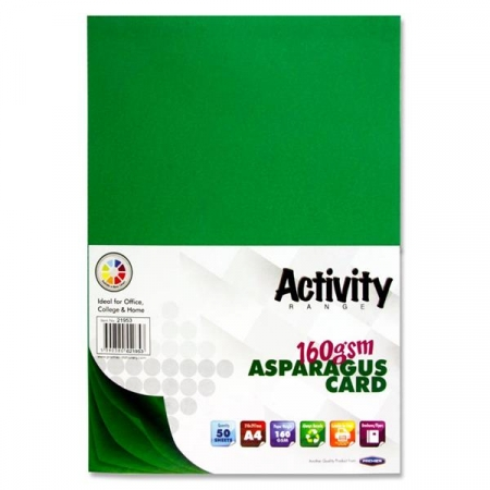 Dark Green Card (Asparagus) A4 50 Pack - 160gsm