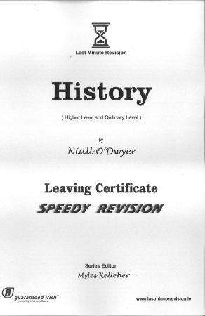 Last Minute Revision LC History - Higher & Ordinary Level