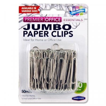 Paper Clips 50mm -  Pack Of 80